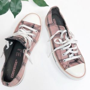 CONVERSE | Pink Plaid Chuck Taylors Sneakers 9